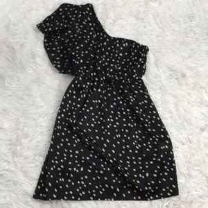 Francescas One Shoulder Dotted Dress